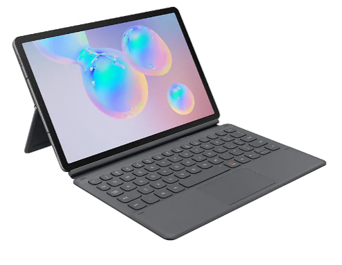 Samsung Tab S6 Book Cover Keyboard Case Grey