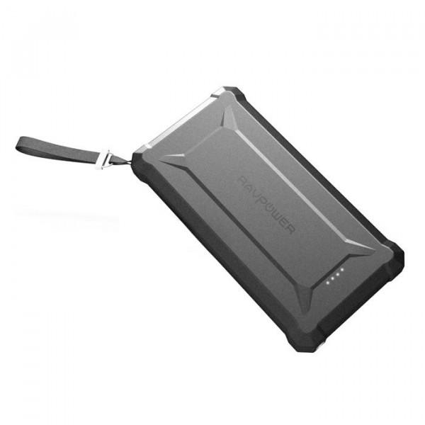 RAVPower Powerbank 20.100 mAh Zwart Outdoor Rugged Stofvrij & Waterdicht IP66 Quick Charge 3.0