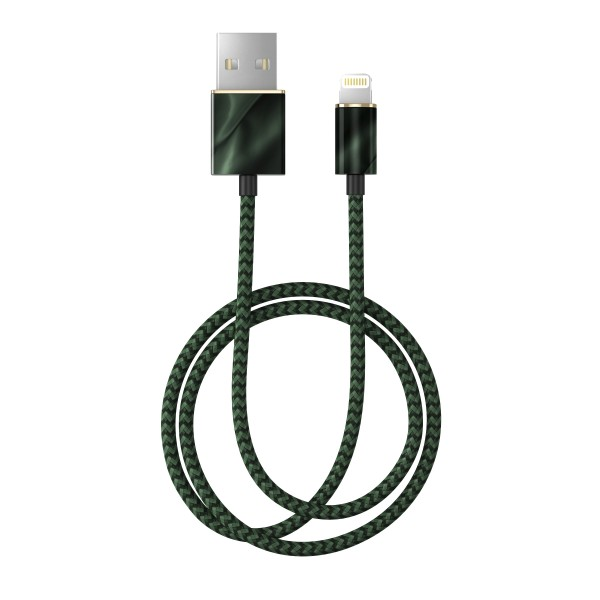 iDeal of Sweden Charging Lightning Fashion Cable 1m Emerald Satin