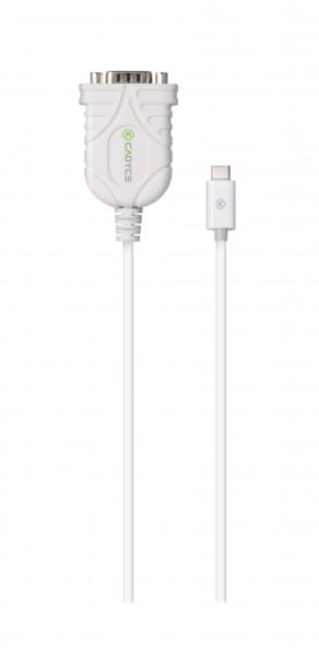 Cadyce USB-C naar RS-232 Serial Converter Voor oa printers, scanners en PDA's Wit