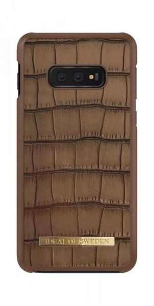 iDeal of Sweden Samsung Galaxy S10e Fashion Case Capri Brown Croco