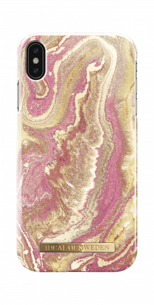 iDeal of Sweden iPhone XS Max Fashion Back Case Golden Blush Marble