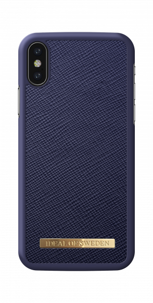 iDeal of Sweden iPhone XS/X Fashion Case Saffiano Navy