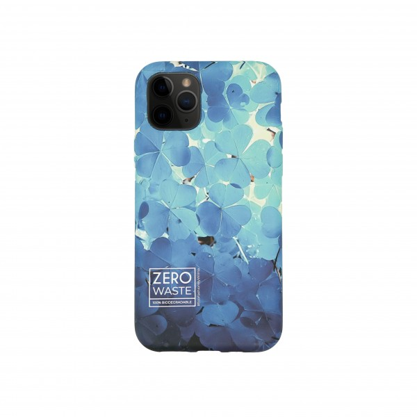 Wilma iPhone 12 Smartphone Eco Case Bio Degradeable Clover Blue