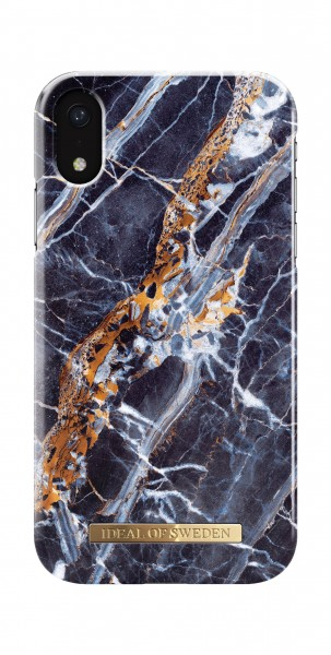 iDeal of Sweden iPhone Xr Fashion Back Case Midnight Blauw Marble