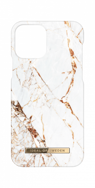 iDeal of Sweden iPhone 12 / 12 Pro Fashion Back Case Carrara Gold