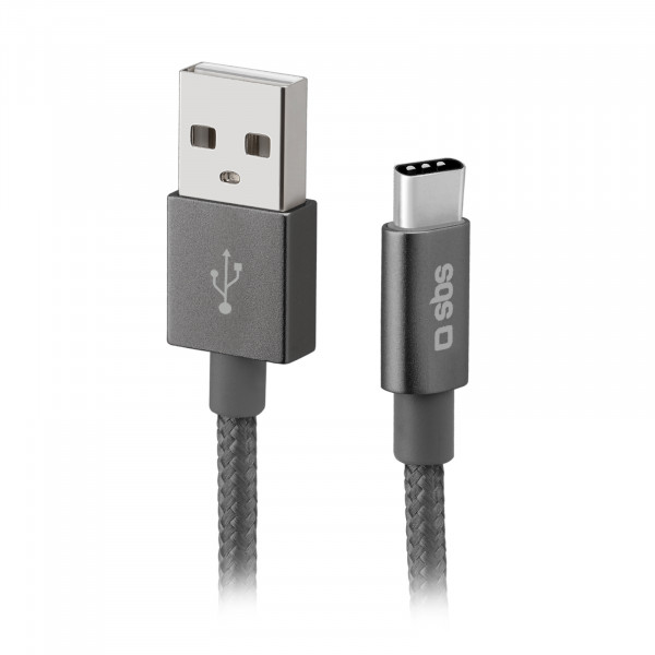 SBS Charging Cable USB-A to USB-C 1.5m Dark Grey