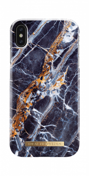iDeal of Sweden iPhone XS Max Fashion Back Case Midnight Blauw Marble