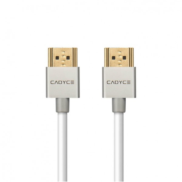Cadyce High Speed HDMI kabel | 4K, 3D en Full HD | Ethernet | 24K Goud Geplateerd | 2 meter | Zilver