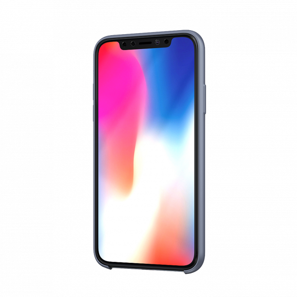 BeHello Premium iPhone 11 Siliconen Hoesje Lavender Grijs