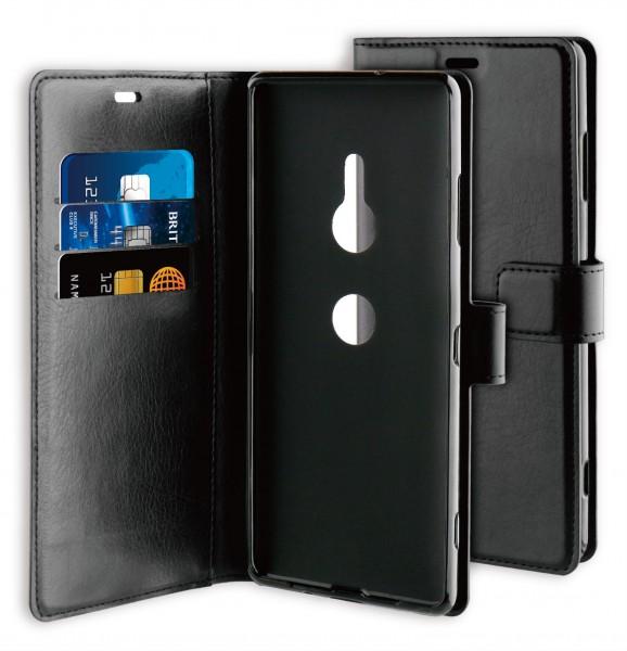 BeHello Xperia XZ3 Hoesje - Gel Wallet Case Met Ruimte Voor 3 Pasjes Zwart