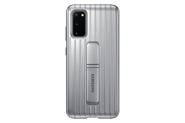 Samsung Galaxy S20 Protective Standing Cover Silver