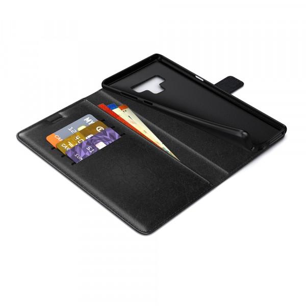 BeHello Samsung Galaxy Note 9 Hoesje - Wallet Case Met Ruimte Voor 3 Pasjes Zwart