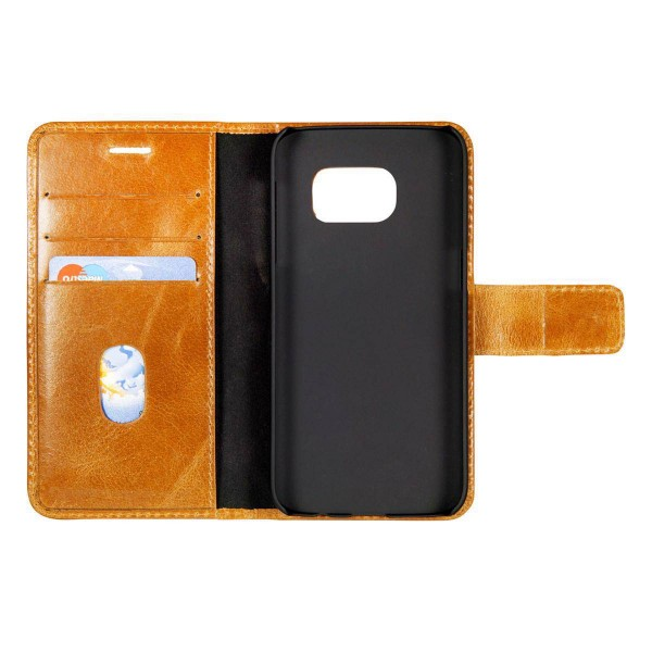 Dbramante1928 Samsung Galaxy S7 Edge Magnetic Wallet Case Lynge Golden Tan