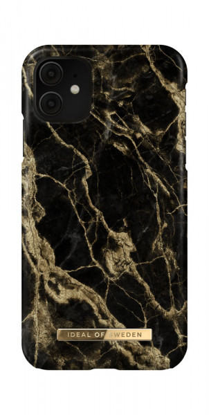 iDeal of Sweden iPhone 11 / XR Fashion Case Golden Smoke Marble