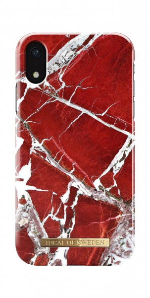 iDeal of Sweden iPhone Xr Fashion Back Case Scarlet Red Marble