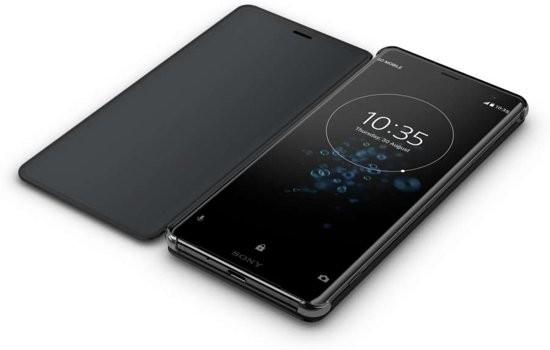 Sony Xperia Xperia XZ2A Style Cover Stand Case Black