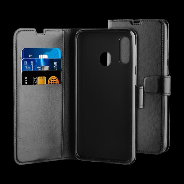 BeHello Samsung Galaxy A40 Hoesje - Gel Wallet Case Met Ruimte Voor 3 Pasjes Zwart