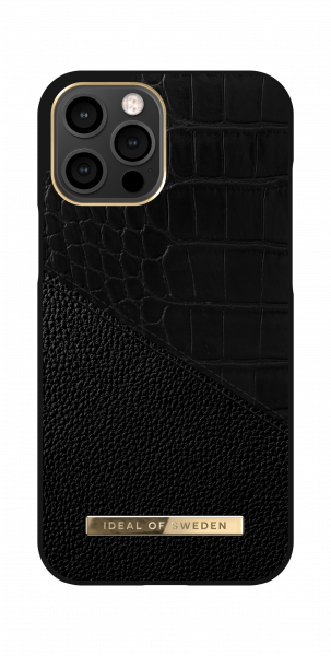 iDeal of Sweden iPhone 12 Pro Max Fashion Back Case Nightfall Croco