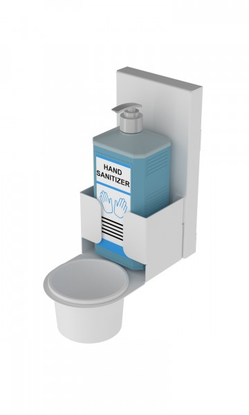 Muurbevestiging met Dispenser (Wit)