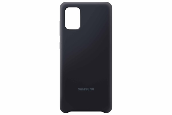Samsung Galaxy A71 Silicone Cover Case Black