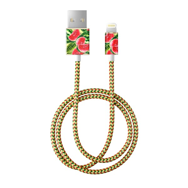 iDeal of Sweden Charge and Sync Lightning Fashion Cable 1m One In A Melon
