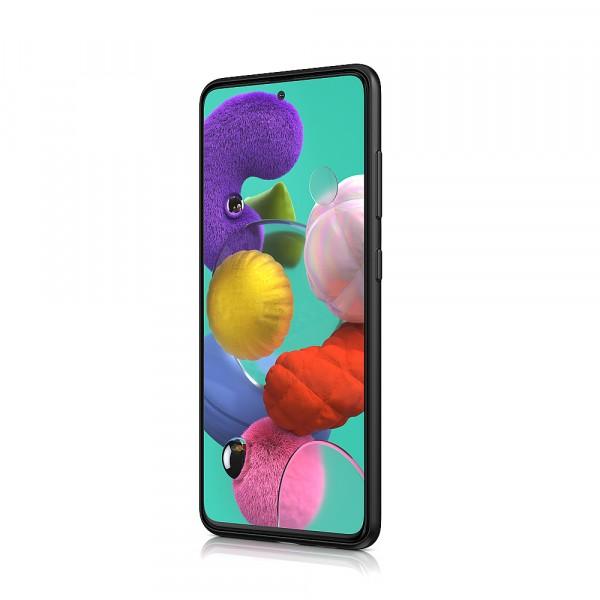 BeHello Samsung Galaxy A51 Siliconen Hoesje Zwart
