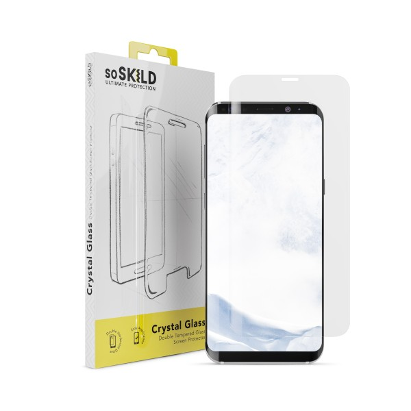 SoSkild Screenprotector Crystal Double Tempered Glass voor Samsung Galaxy S8+