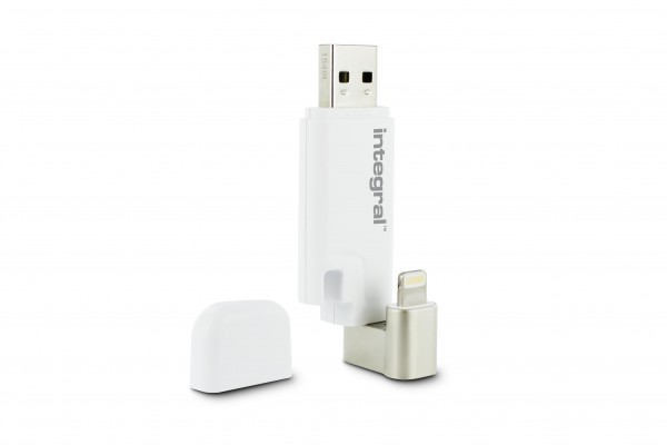 Integral Flash Drive 32GB Lightning & USB-A aansluitingen USB Stick voor iPhone en Laptop / PC Of