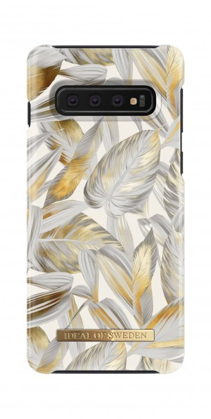iDeal of Sweden Samsung Galaxy S10 Fashion Back Case Platinum Leaves