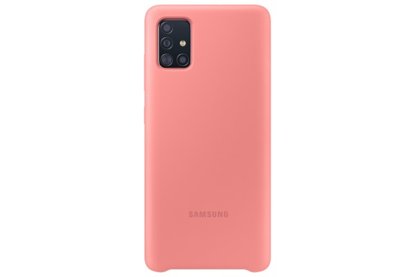 Samsung Galaxy A51 Silicone Cover Case Pink