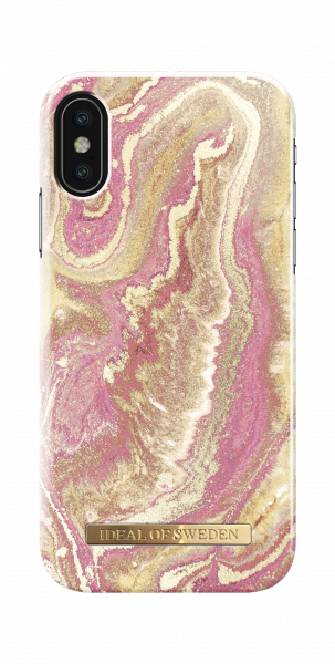 iDeal of Sweden iPhone XS/X Fashion Back Case Golden Blush Marble