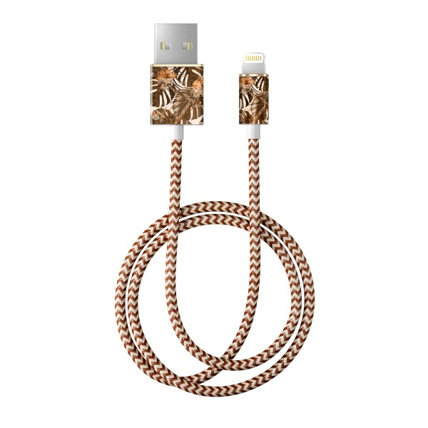 iDeal of Sweden Charge and Sync Lightning Fashion Cable 1m Autumn Forest