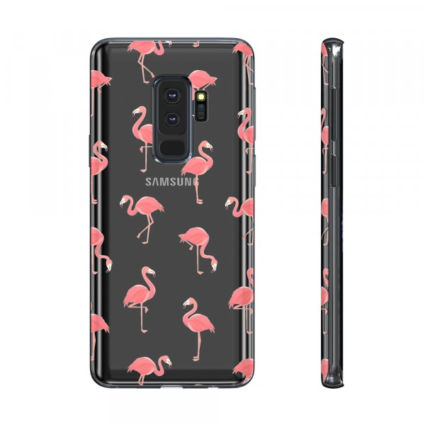 BeHello Premium Gel Case Flamingo voor Samsung Galaxy S9+
