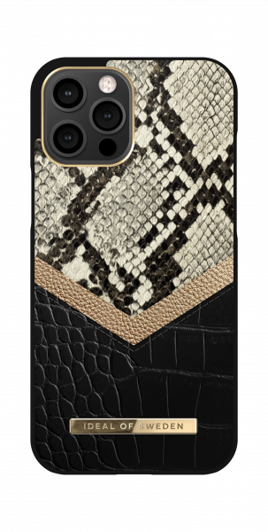 iDeal of Sweden iPhone 12 Pro Max Fashion Back Case Midnight Python