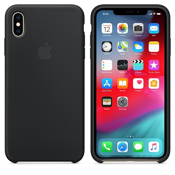 Apple Back Case Silicone Zwart voor iPhone Xs Max