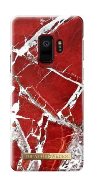 iDeal of Sweden Fashion Back Case Scarlet Red Marble voor Samsung Galaxy S9
