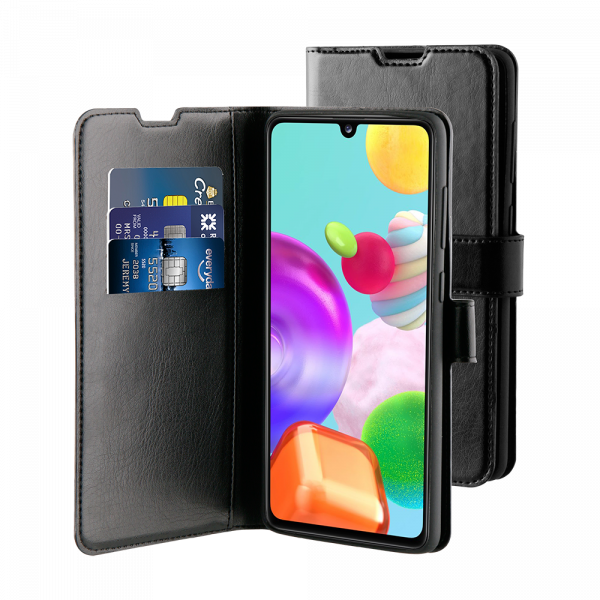 BeHello Samsung Galaxy A41 Hoesje - Gel Wallet Case Met Ruimte Voor 3 Pasjes Zwart