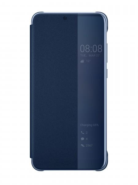 Huawei View Flip Cover Blauw voor Huawei P20