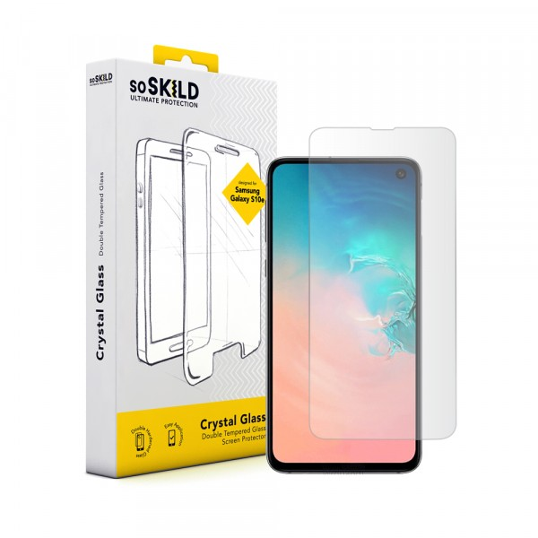 SoSkild Samsung Galaxy S10e Full Glue Tempered Glass Zwart