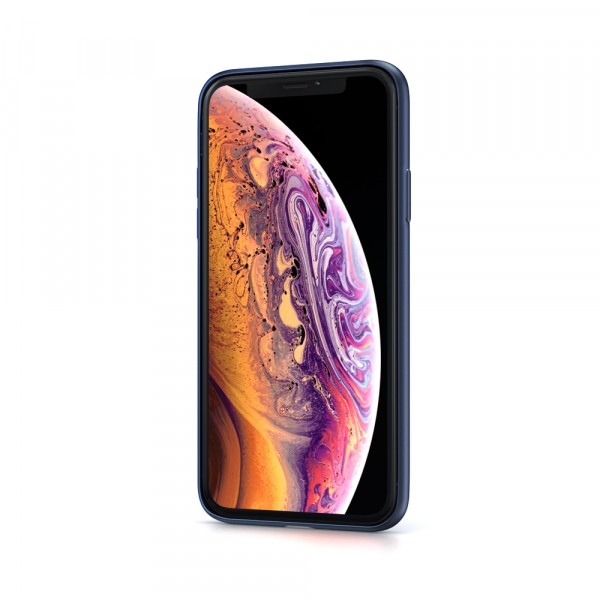 BeHello Liquid Silicon Case Blauw voor iPhone X Xs