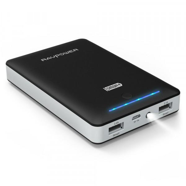 RAVPower RP-PB19 Powerbank 16.750 mAh 2 USB Poorten 4.5A Zwart