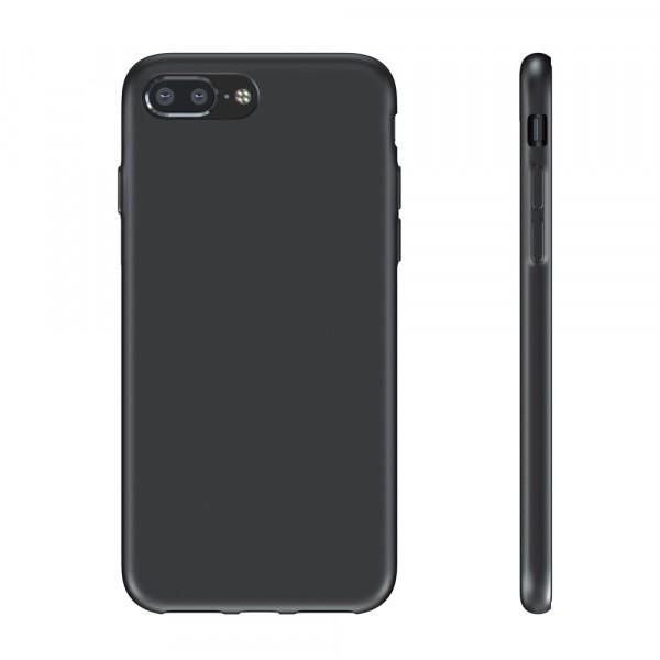 BeHello Premium iPhone 8 Plus 7 Plus Siliconen Hoesje Zwart