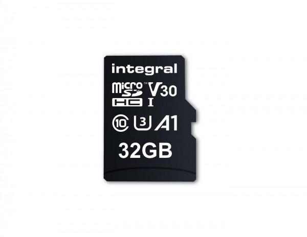 Integral Micro SD Geheugenkaart 32GB Voor smartphone en Tablet V30 Videosnelheid 100MB/s leessnel