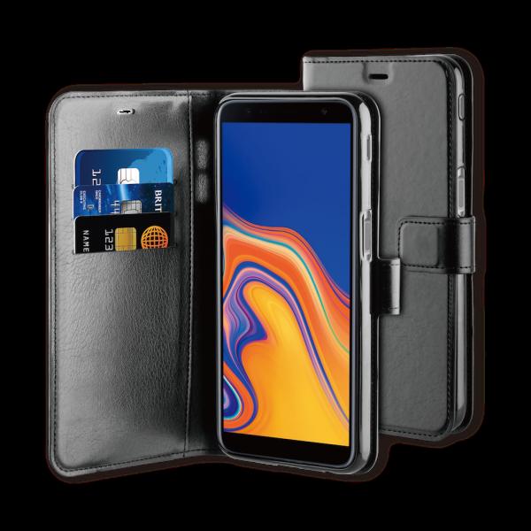 BeHello Samsung J6+ Hoesje - Gel Wallet Case Met Ruimte Voor 3 Pasjes Zwart