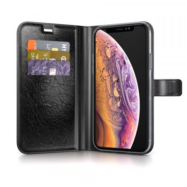 BeHello iPhone X XS Hoesje - Gel Wallet Case Met Ruimte Voor 3 Pasjes Zwart