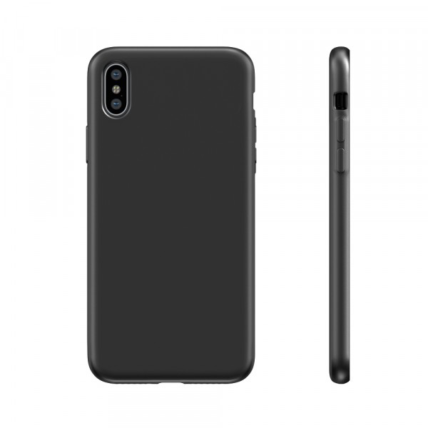 BeHello Liquid Silicon Case Zwart voor iPhone X Xs