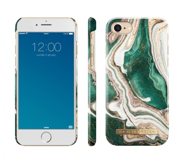 iDeal of Sweden iPhone 8 / 7 / 6 / 6S Fashion Back Case Golden Jade Marble