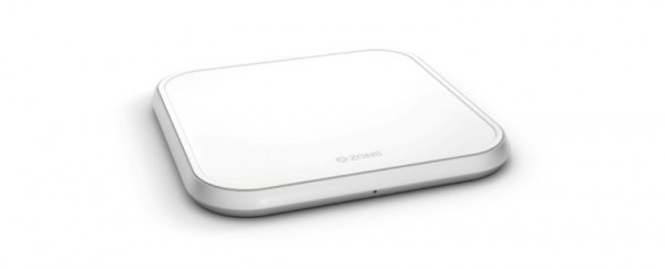ZENS Wireless Charger Single 10W Aluminium White