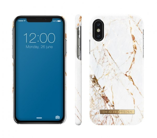iDeal of Sweden Fashion Back Case Carrara Gold voor iPhone Xs X